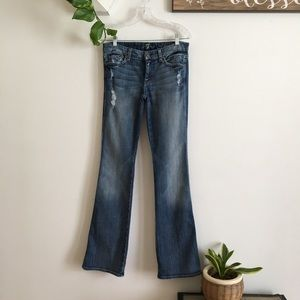 7 for all Mankind A pocket distressed jeans Sz 27
